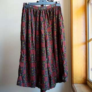 Vintage printed culottes
