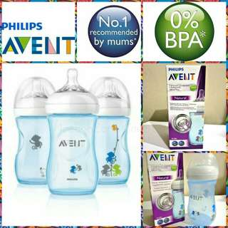 Philips Avent Natural Blue Monkey Decorated 9oz/260ml