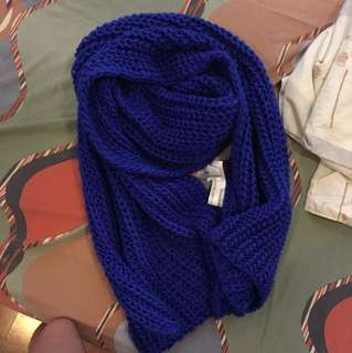 Forever 21 Royal blue winter scarf