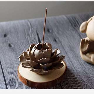 Lotus incense holder clay