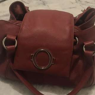 Genuine Oroton Red Leather Handbag