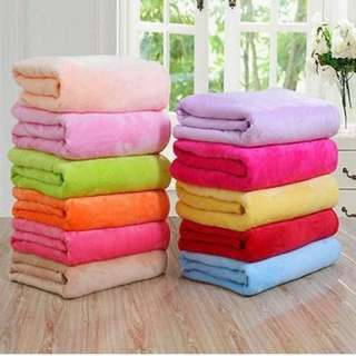 Fleece blanket 70x100cm. Comfortable, warm, not pilling, not fade, do not shrink, anti-bacterial