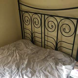 Black bed- great condition