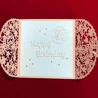 Wrap card birthday card
