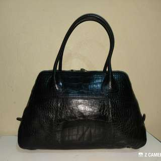 Tote Bag Alligator Leather Authentic Prada