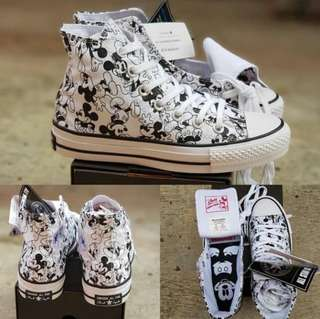 "SEPATU CONVERSE ALL STAR HIGH 100th ANNIVERSARY  ""MICKEY MOUSE"""