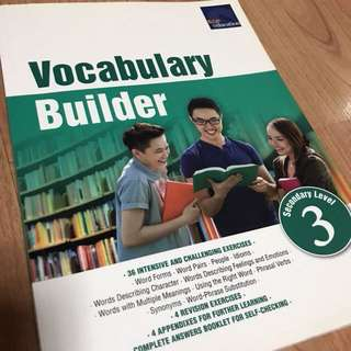Vocabulary Builder Assessment Sec 3 Lvl