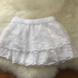 Carter's Floral Lace White Skirt