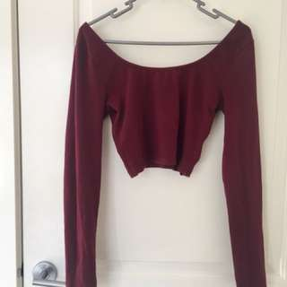 Long sleeve crop top size M from General Pants Co