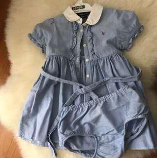 Ralph Lauren Blue Shirt Dress 12m