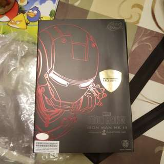 2 Beast Kingdom Magnetic floating ironman MK2 red and silver chrome version  non hot toys 1/6 1/4 statue xm