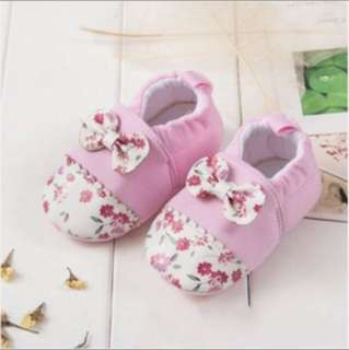 Baby Shoes Anti Slip Pink Flower