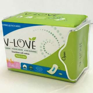 Panty liner with anions