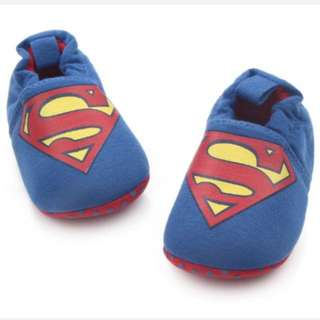 Baby Shoes Anti Slip Superman Blue