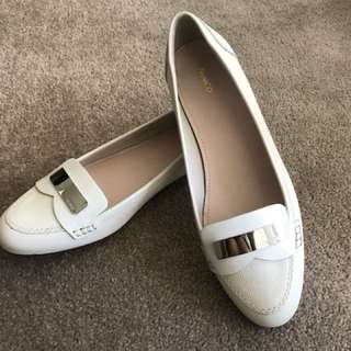Mimco white loafers