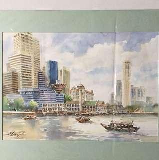 画家王金成 painting (Not  for sale
