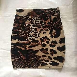 Leopard Bandage Skirt