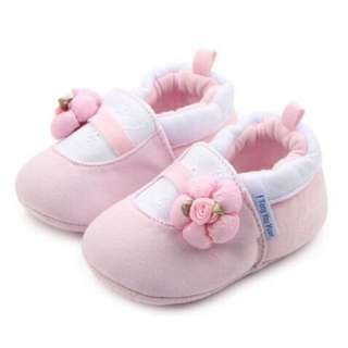Baby Shoes Pink White