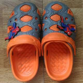 Orange-grey shoes