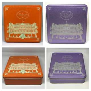Two Tins for $10 - Raffles Hotel Mooncake Tims ( 125th Anniversary {2012} & 2015 )