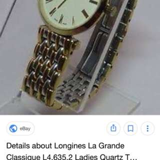 Authentic 💯 Original LONGINES TWO TONE SWISS MADE WATCH