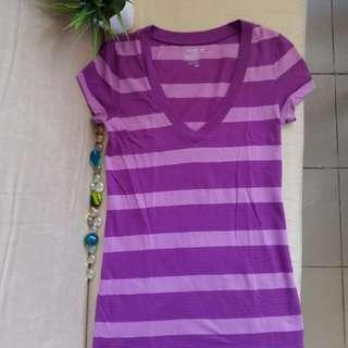 Old Navy Striped Purple Shirt