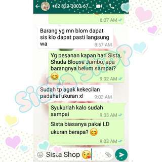 Testimonial Sista Shop