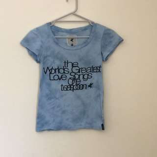 One teaspoon relaxed fit t-shirt size 6