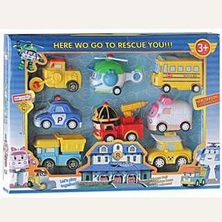 Mainan Anak Laki-Laki Robocar Poli Isi 8 Dus
