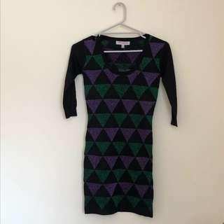 BNWT petite wool blend sleeved minidress