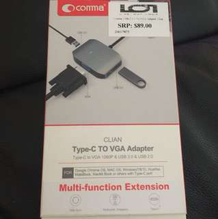 Type-C to VGA Adapter Multi Function Extension