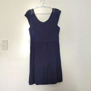 American Eagle Blue Lace Dress