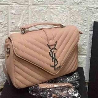 Yves Saint Laurent Monogram Bag Light Pink