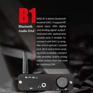 GB Deal $75 (End 21th Jan) SMSL B1 APT - X  Bluetooth Receiver with independent DAC