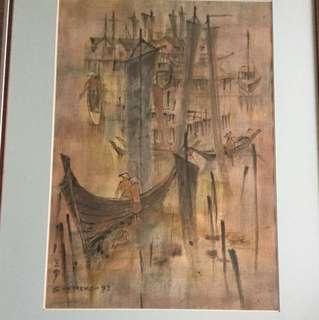 画家鈡泗滨 painting (Not for sale 非卖品