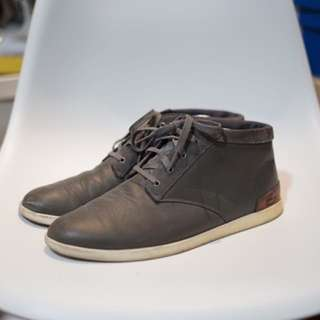 Lacoste Shoes Grey Leather US 10.5