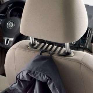 VW Snakey Headrest Hooks Black 2x pcs