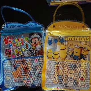 Stationery pack - Mickey mouse & Minions