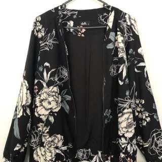 Floral bomber style dotti jacket size 10