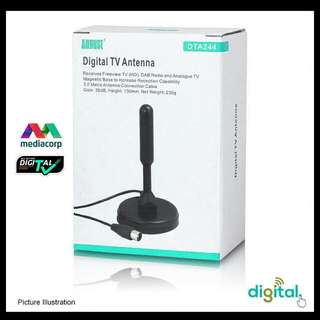 Digital TV Antenna DVB-T2 with Dual Signal Booster Amplifier