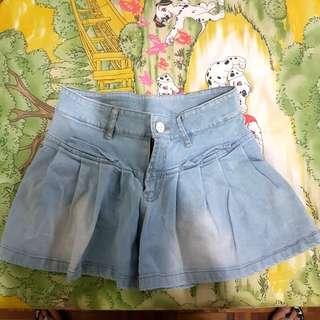Denim Skirt Pants