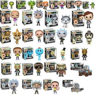 Rick and Morty Funko pop Series
