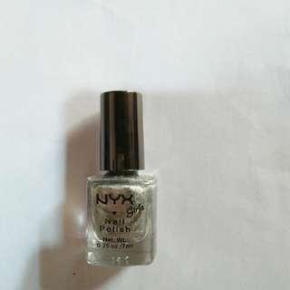 Girls Nail Polish-Silver Glitter