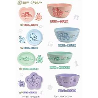 7-11kitty竹纖維碗(全新)