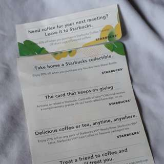 [TAKE ALL] STARBUCKS Monthly Coupons (May to October)