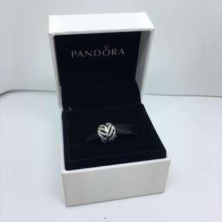 Pandora Round Leaf Charm