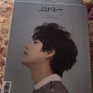 "Kyuhyun 1st Mini Album ""At Gwanghwamun"" unsealed album + pc + poster"