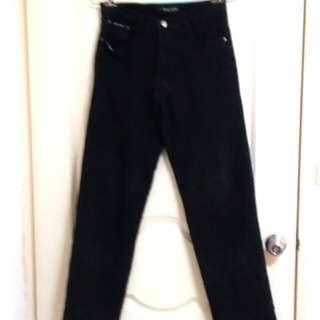 特價【BULL CONYON黑色窄管褲】29號#超取最好買