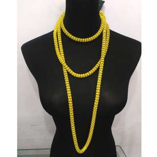 NEW FOREVER 21 YELLOW LONG NECKLACE