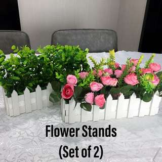 Flower stands vines dessert table decor rental
